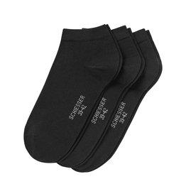 Schiesser Cotton sneaker socks, black