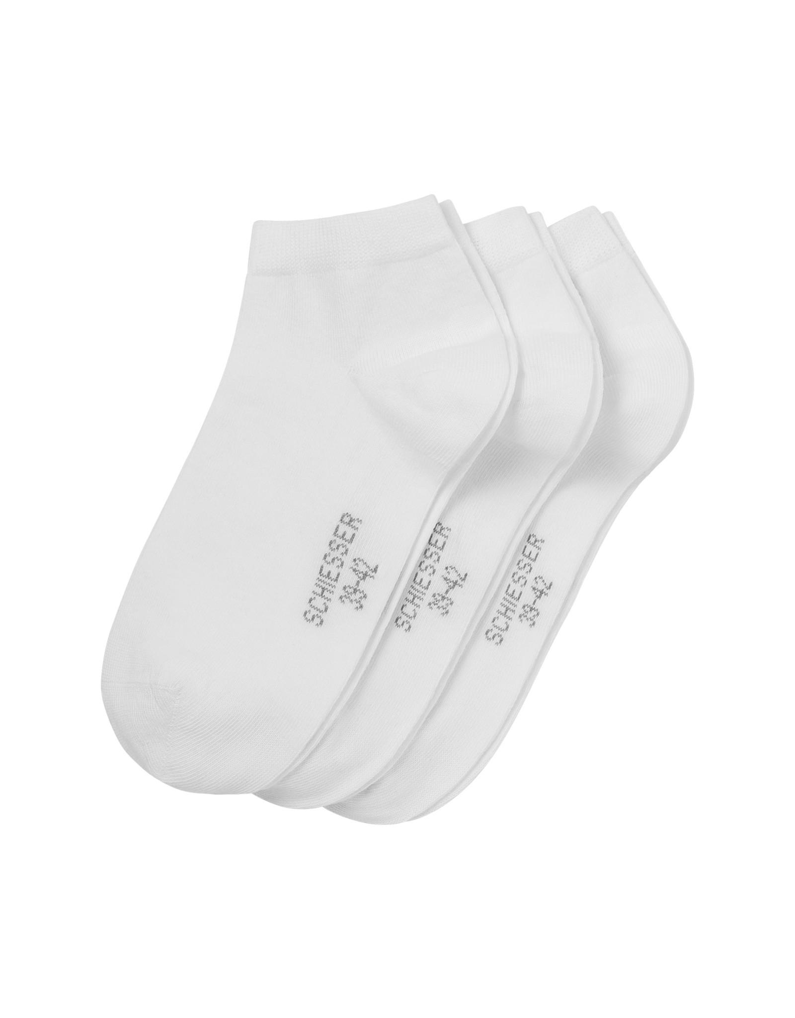 Schiesser Cotton sneaker socks, white