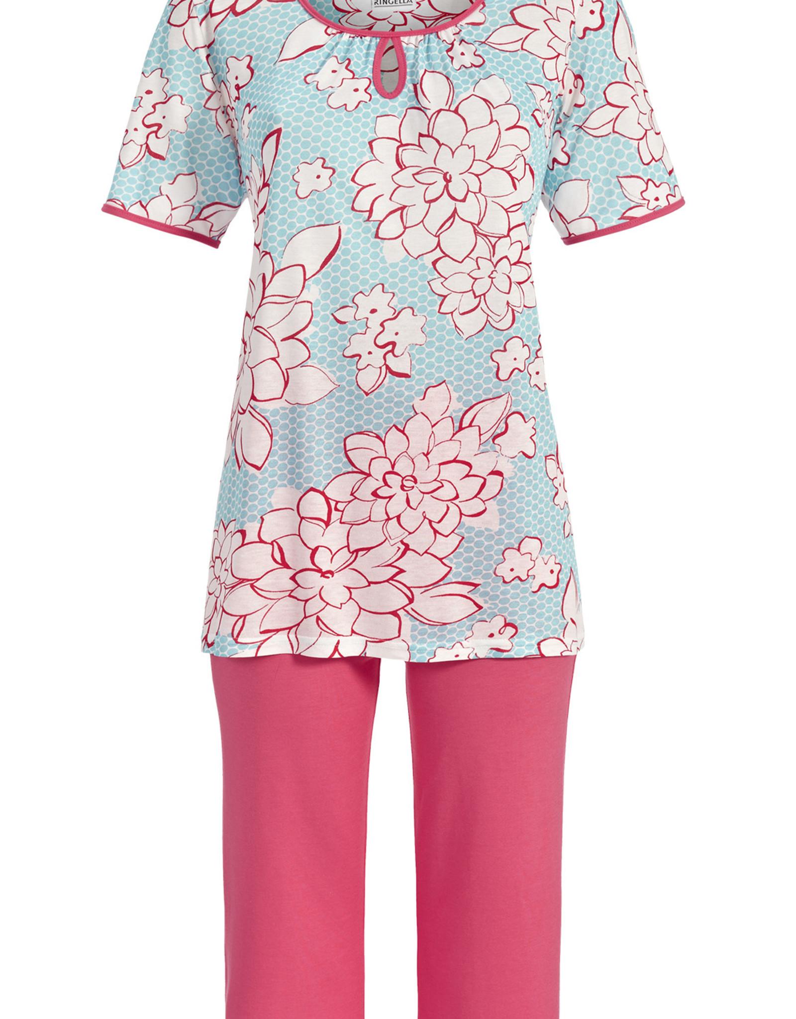 Ringella Ringella dames pyjama, korte mouw, caribic