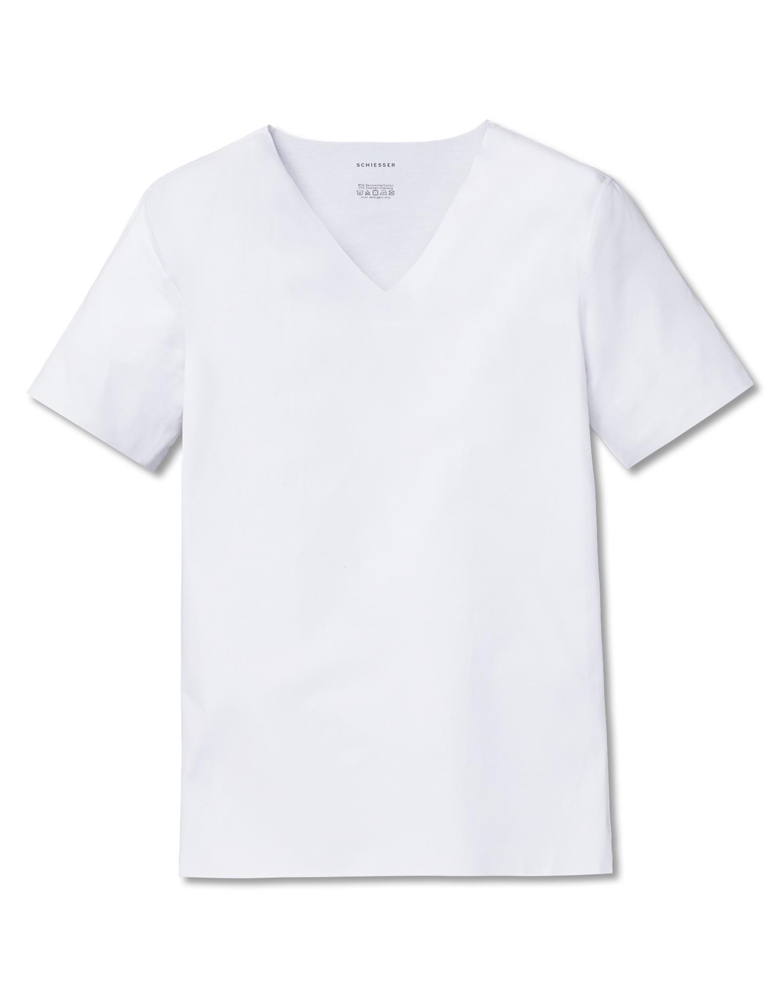 Schiesser Basic Shirt 1/2 laser cut, 152832-100
