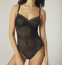 Simone Pérèle Comète, body met beugel, black