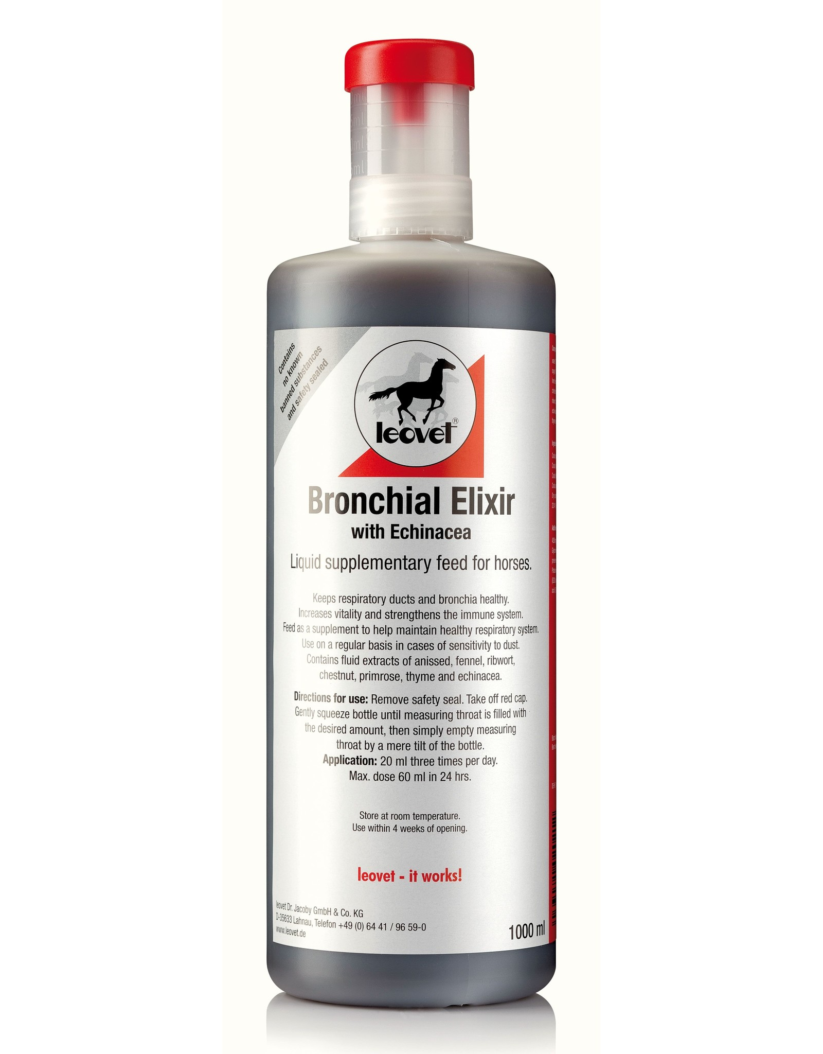 Leovet Leovet Respiratory Syrup / Bronchiaal Elixer 1L