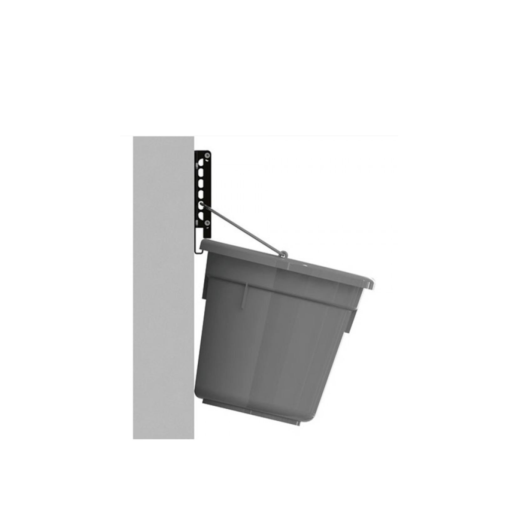 Kerbl Kerbl Wandbevestigingsbeugel voor emmer met vlakke achterzijde