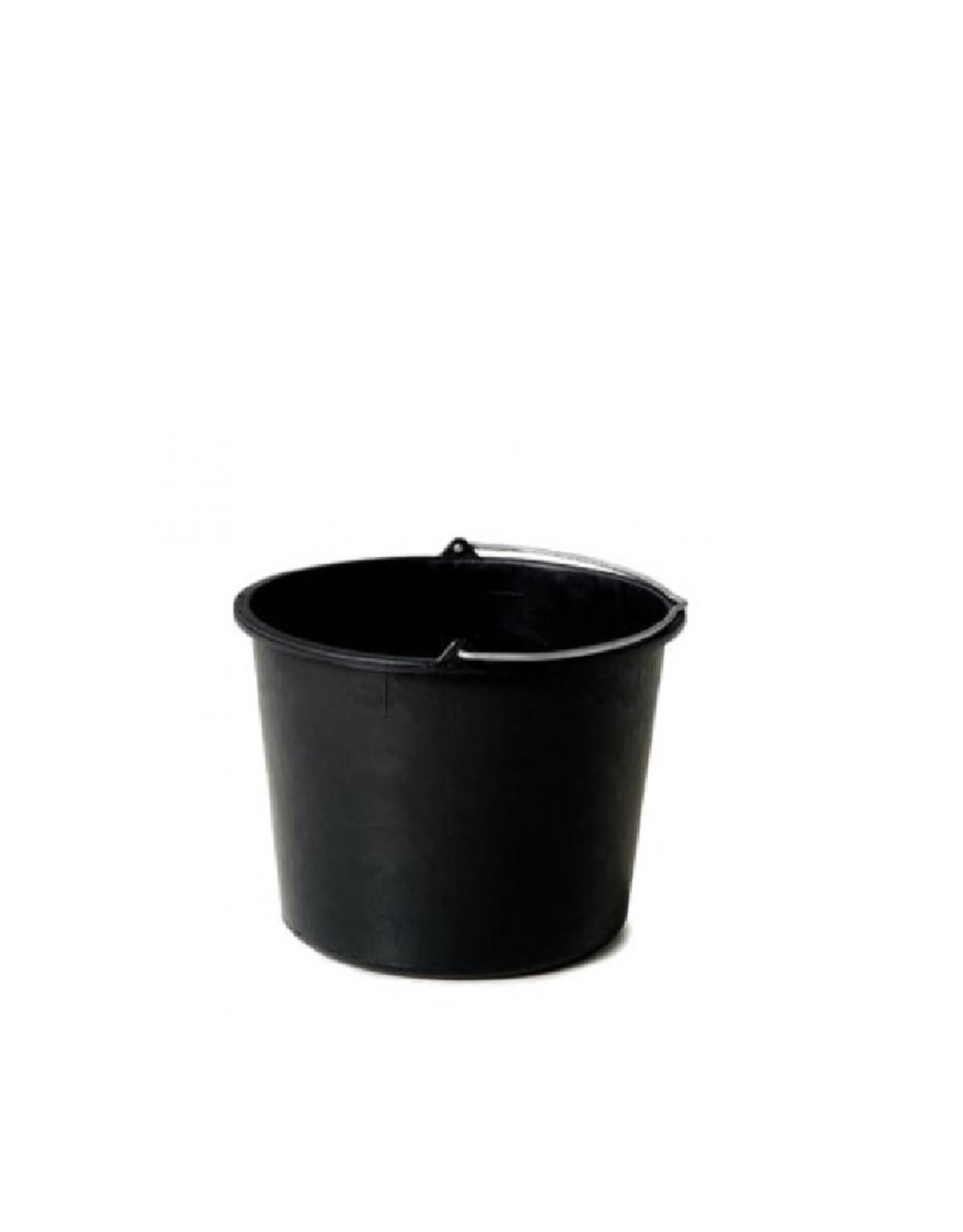 Zwarte emmer 12 liter