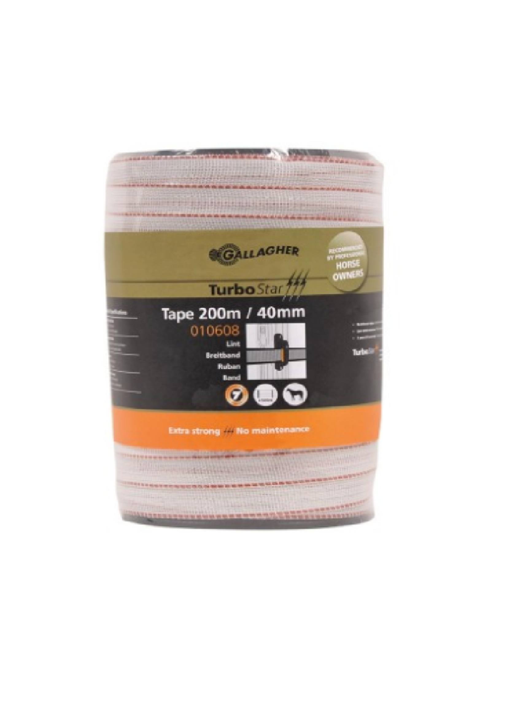Gallagher Gallagher lint 200m / 40mm wit