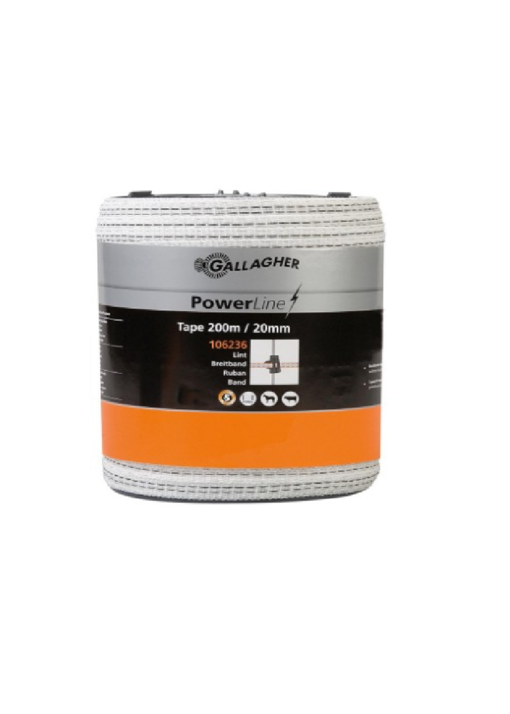 Gallagher Gallagher lint 200m / 20mm wit