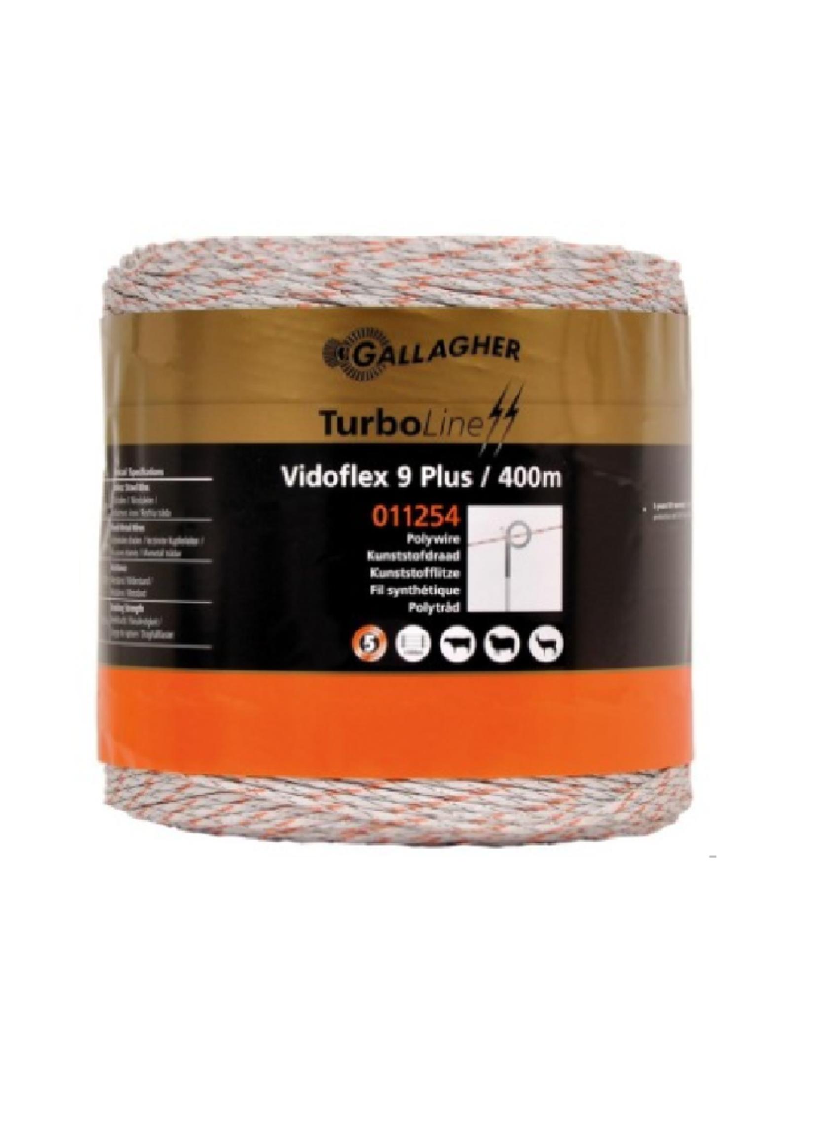 Gallagher Gallagher vidoflex 9 plus 400m (kunststofdraad) wit