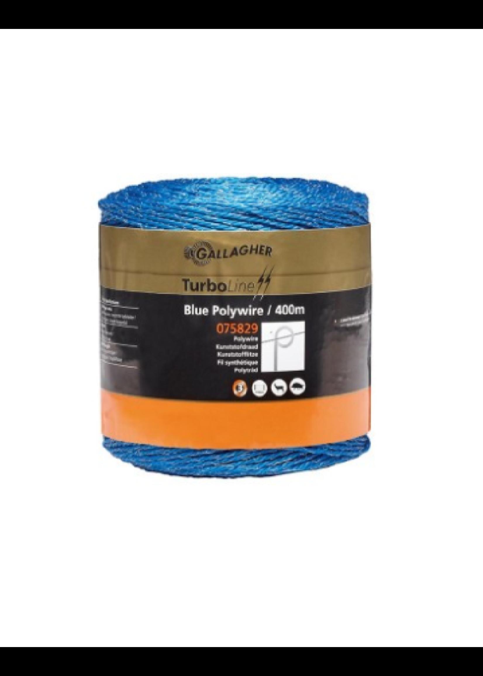 Gallagher Gallagher kunststofdraad 400m blauw