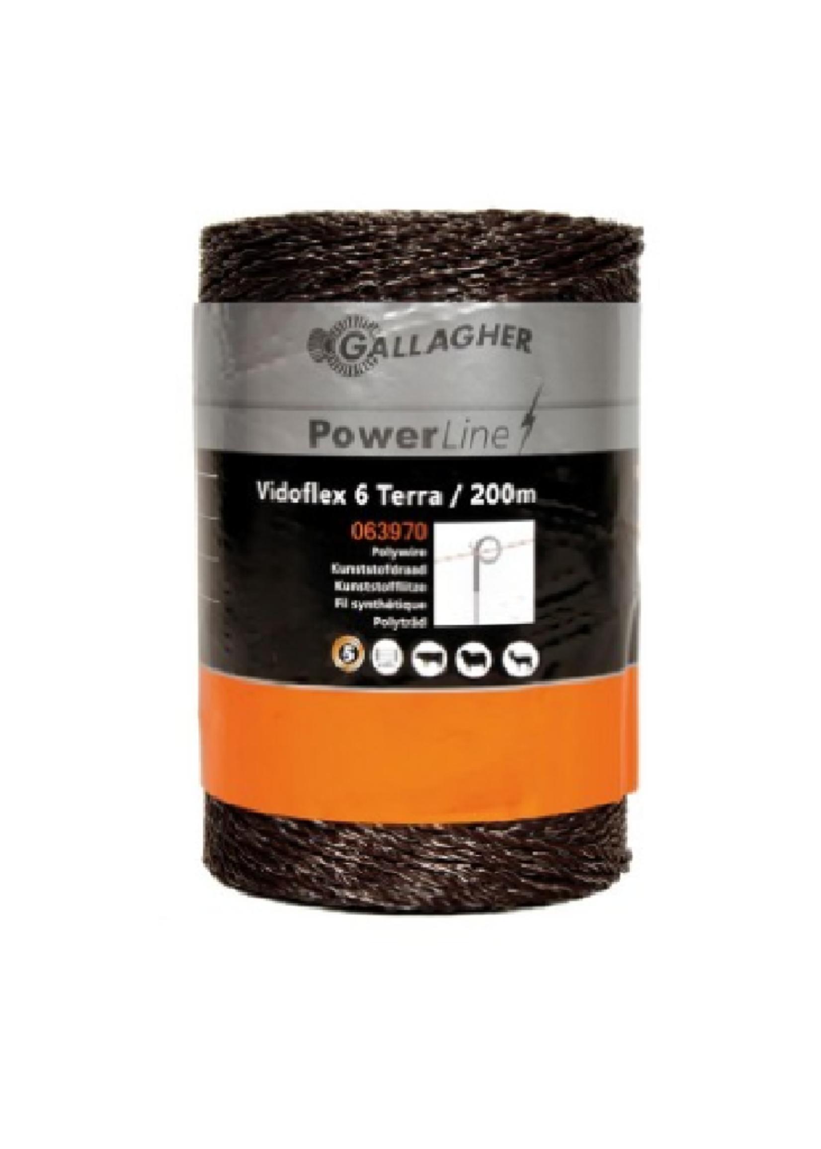 Gallagher Gallagher vidoflex 6 (kunststofdraad) 200m terra