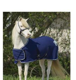 QHP QHP Fleecedeken met ornament Blauw