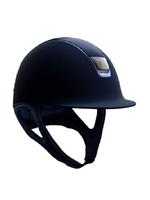Samshield Samshield Shadowmatt, top: Leather, trim: Blue + 5swarov