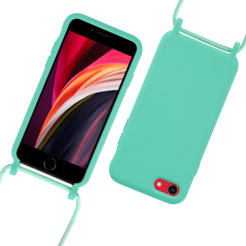 Fe'Nomenal iPhone 7 / 8 / SE 2020   Backcover met Koord   Turquoise