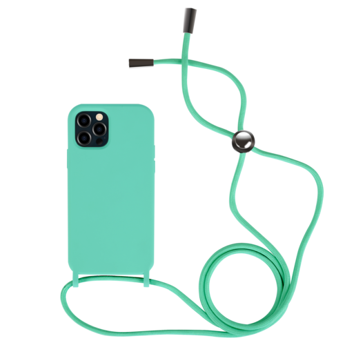 Fe'Nomenal iPhone 12 / 12 Pro | Backcover met Koord | Turquoise