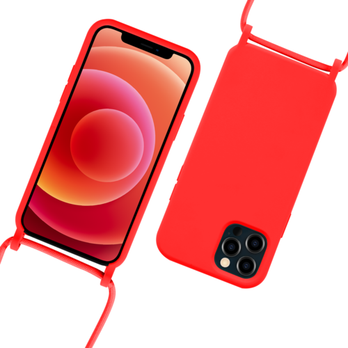 Fe'Nomenal iPhone 12 / 12 Pro | Backcover met Koord | Rood