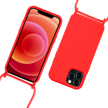 Fe'Nomenal iPhone 12 Pro Max | Backcover met Koord | Rood