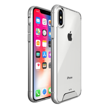 Fe'Nomenal iPhone X / XS | Space Hardcase Hoesje | Transparant