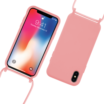 Fe'Nomenal iPhone X / XS | Backcover met Koord | Roze