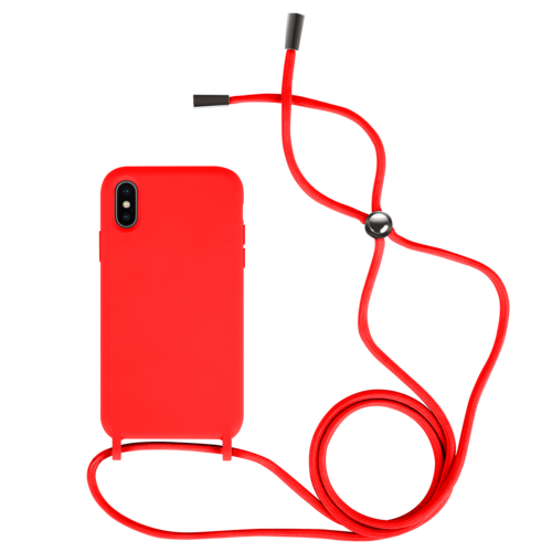Fe'Nomenal iPhone X / XS   Backcover met Koord   Rood