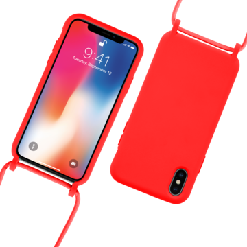 Fe'Nomenal iPhone X / XS | Backcover met Koord | Rood