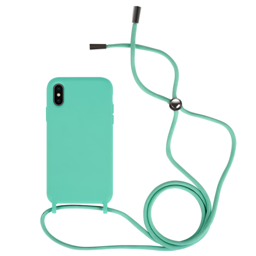 Fe'Nomenal iPhone X / XS | Backcover met Koord | Turquoise