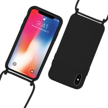 Fe'Nomenal iPhone X / XS | Backcover met Koord | Zwart