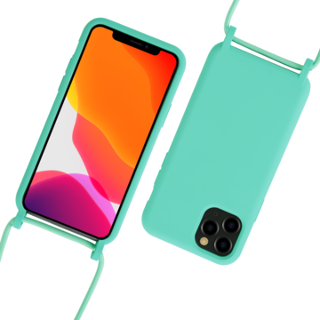 Fe'Nomenal iPhone 11 Pro Max | Backcover met Koord | Turquoise