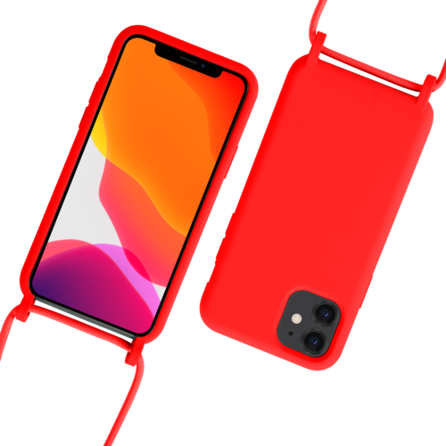 Fe'Nomenal iPhone 11 | Backcover met Koord | Rood