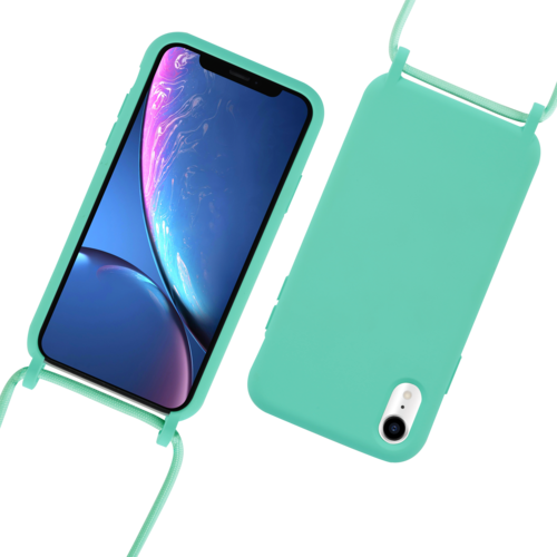 Fe'Nomenal iPhone XR | Backcover met Koord | Turquoise
