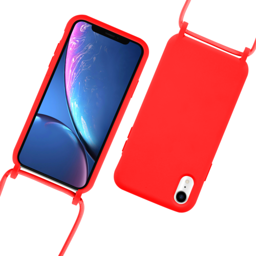 Fe'Nomenal iPhone XR | Backcover met Koord | Rood