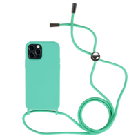 Fe'Nomenal iPhone 12 Pro Max | Backcover met Koord | Turquoise