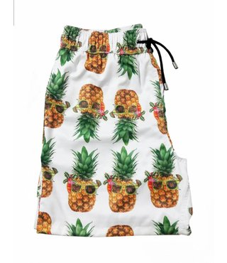 Tropical pineapple swimming shorts