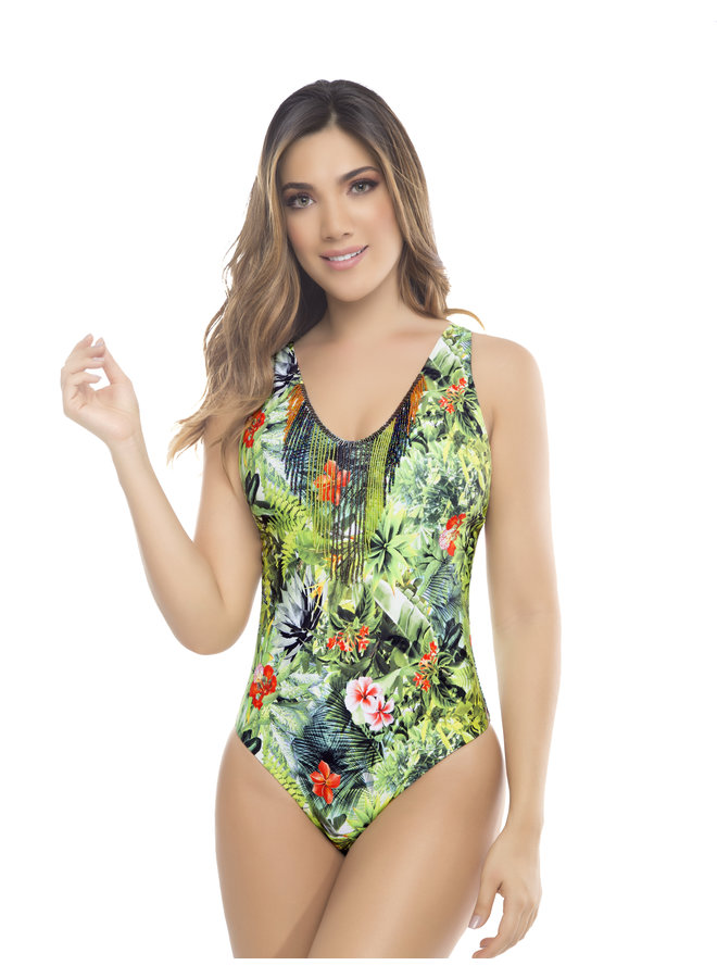 Amazons bathing suit with beads