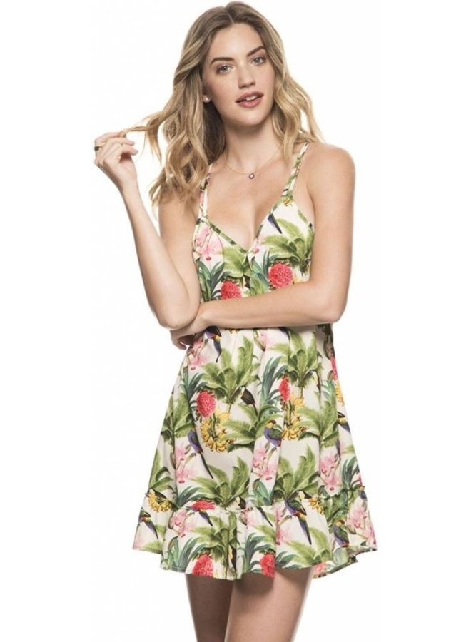 Tropical dress kibys swimwear
