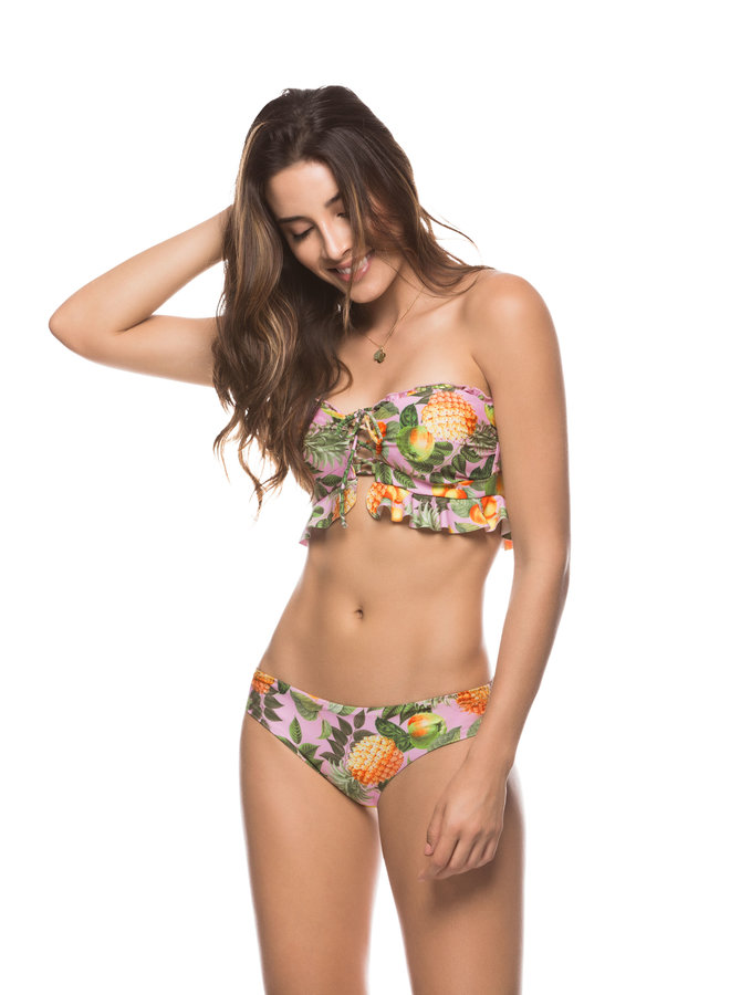 Ananas tropical bandeau bikini
