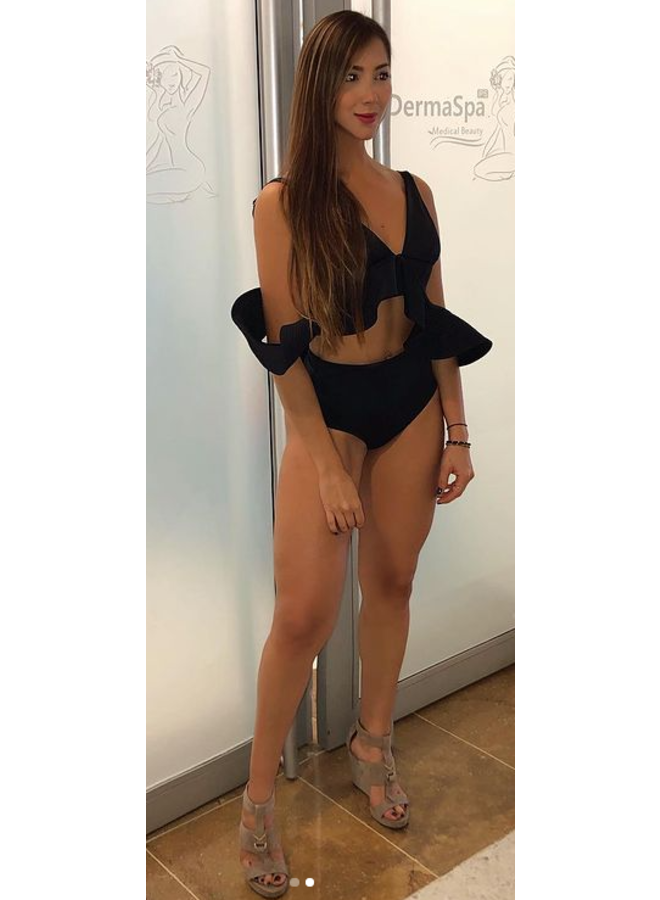 Zwarte bikini met ruffles
