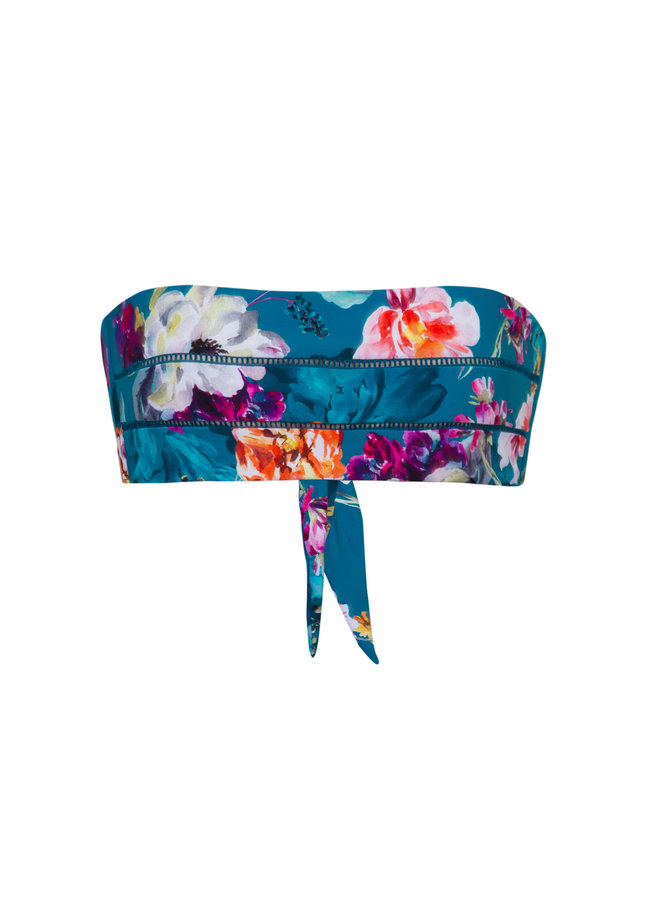 Spiritual bloom  bandeau top PilyQ swimwear