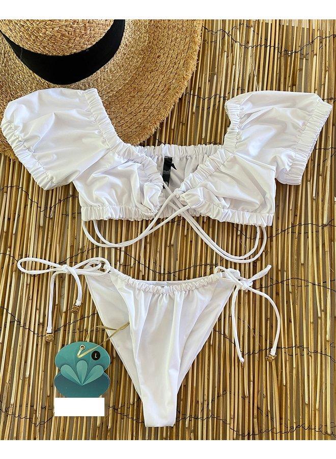 Bromeliad white bikini