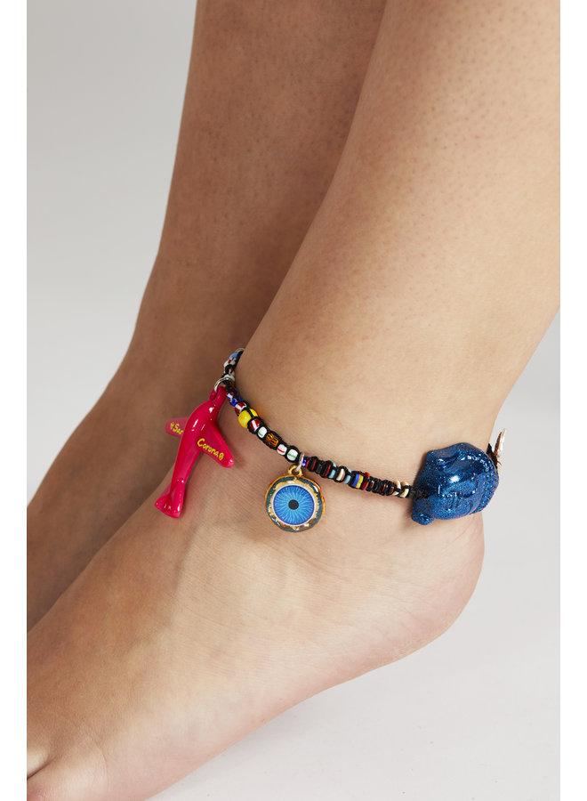 Anklet blue budha