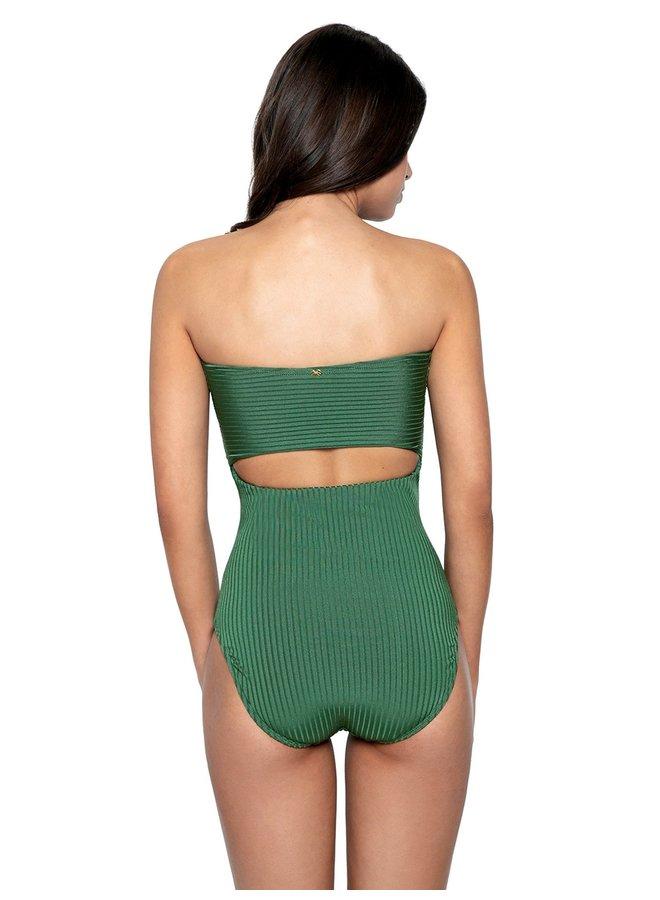Jenna green bathing suit PilyQ