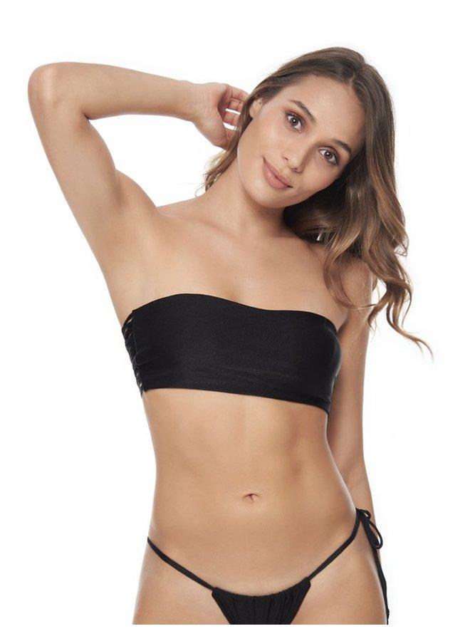 Zwarte bandeau bikini top entreaguas swimwear