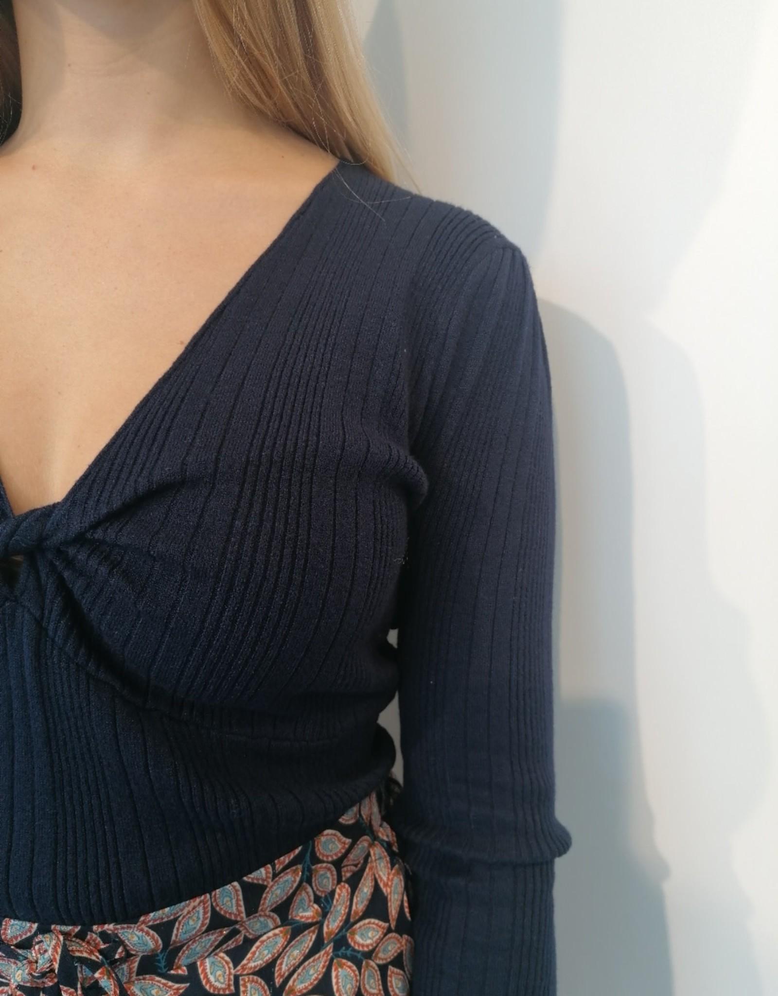 Pull Pima - Bleu marine