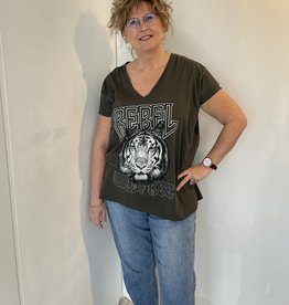 T-shirt Tiger - Kaki