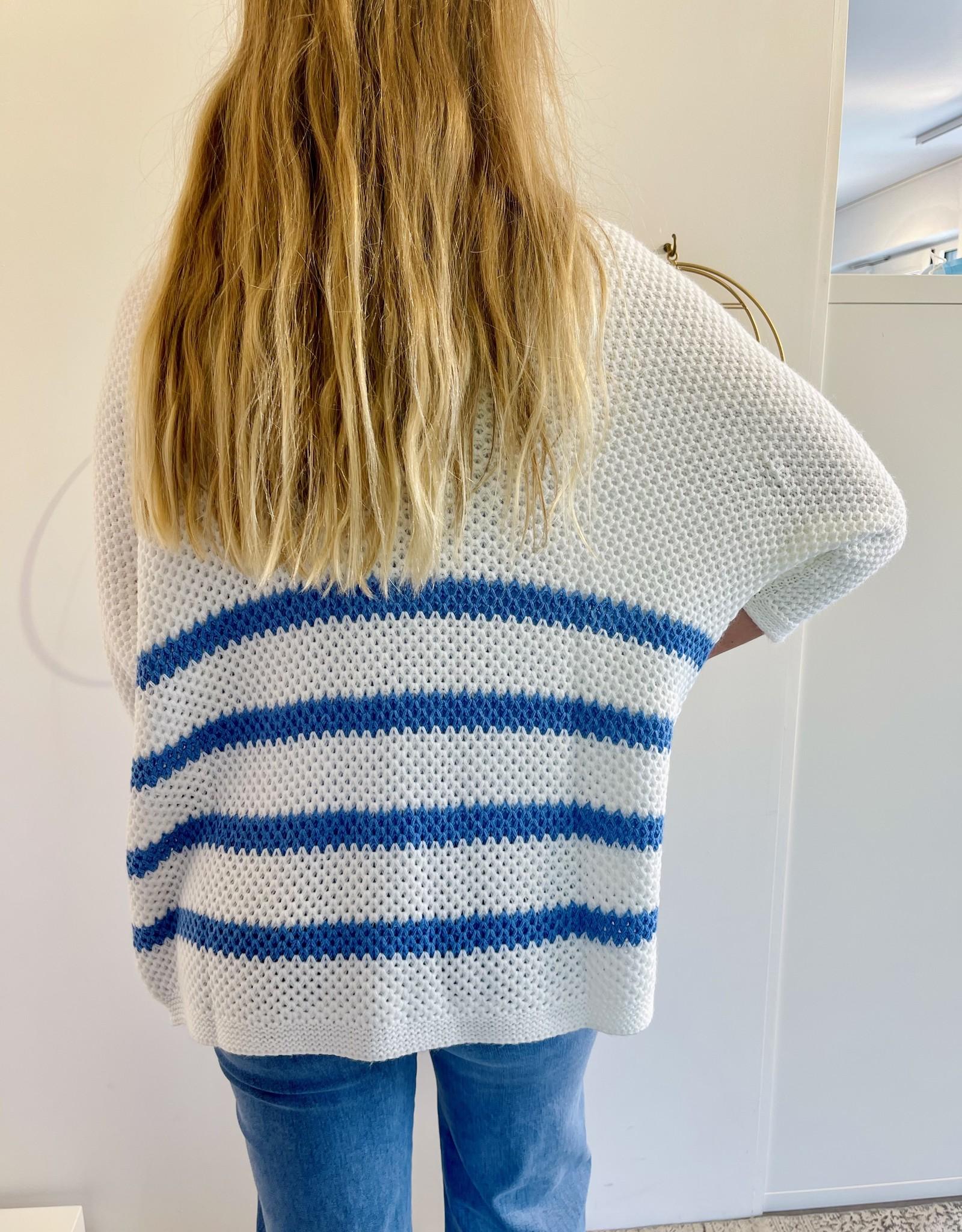 Gilet Goia Blanc/Bleu