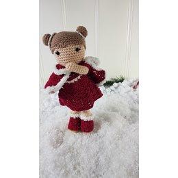 Häkelset: Weihnachtskleid Carolientje