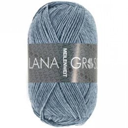 Lana Grossa Meilenweit 1302 - Jeans/Grau meliert