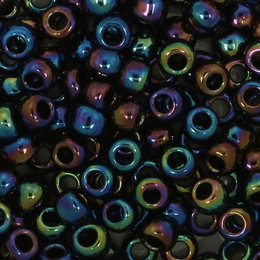 Toho Glasperlen rund 8-0 blau/grün/violet (86)