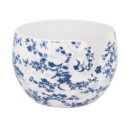Scheepjes Yarn Bowl Blue Leaf Unzerbrechlich