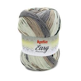 Katia Easy Jacquard Braun-Grau (350)