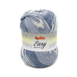 Katia Easy Jacquard Grau-Blau (311)