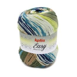 Katia Easy Jacquard Grün-Braun (353)